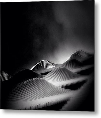 Waves Of Steel - Concrete Jungle Metal Print by Robbert Ter Weijden