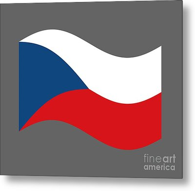 Waving Czech Republic Flag Metal Print by Frederick Holiday