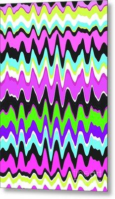 Wavy Stripe Metal Print