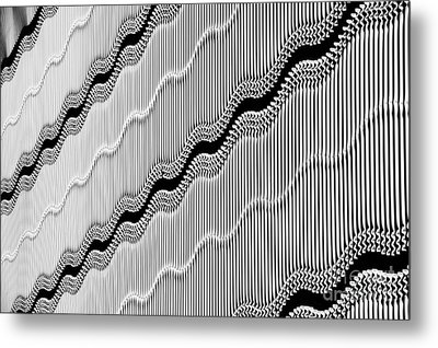Wavy Wall Metal Print by Tim Gainey