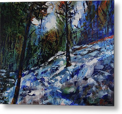 Metal Print featuring the painting Way Of The Mono Trail by Walter Fahmy