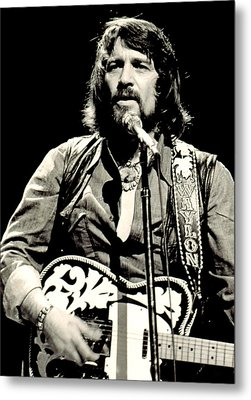 Waylon Jennings In Concert, C. 1976 Metal Print