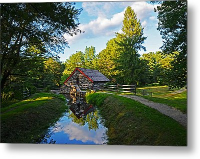 Wayside Inn Grist Mill Reflection Metal Print by Toby McGuire
