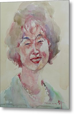 Wc Portrait 1627 My Sister Hyunju Metal Print by Becky Kim