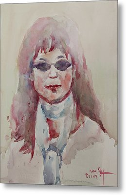 Wc Portrait 1629 My Sister Younhee Metal Print by Becky Kim