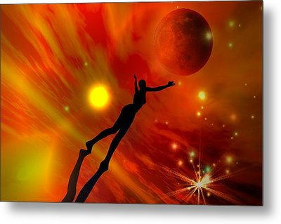 Metal Print featuring the digital art We All Shine On Like The Moon And The Stars And The Sun by Shadowlea Is