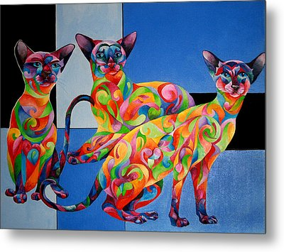 We Are Siamese If You Please Metal Print by Sherry Shipley