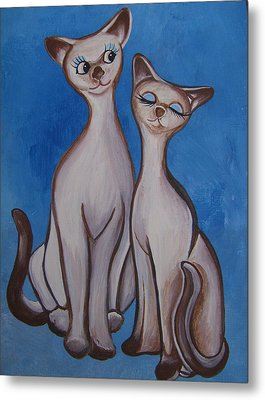 We Are Siamese Metal Print by Leslie Manley