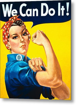 We Can Do It Metal Print by American School
