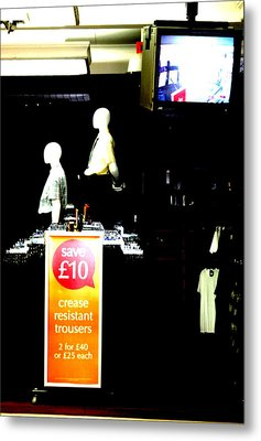 We Dont Watch The Tv We Watch You Metal Print by Jez C Self