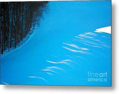Metal Print featuring the photograph We Got The Blues - Winter In Switzerland by Susanne Van Hulst