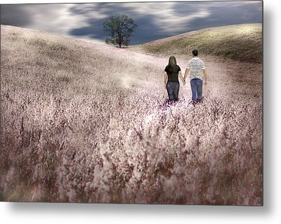 We Made Love Under The Tree Metal Print by Gray  Artus
