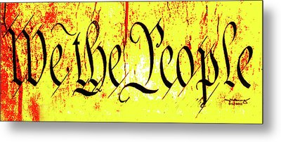 We The People Celebrate A Republic Artist Series Jgibney The Museum Metal Print by The MUSEUM Artist Series jGibney