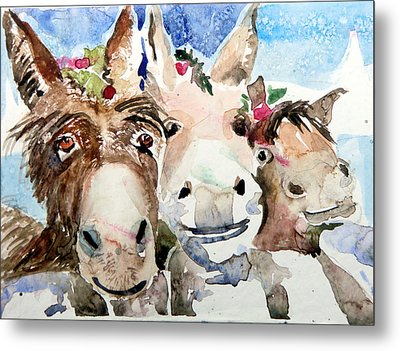 We Three Wise Asses Metal Print by Mindy Newman