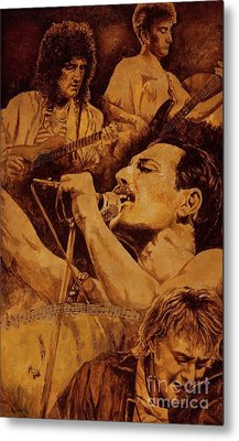 Metal Print featuring the painting We Will Rock You by Igor Postash