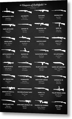 Metal Print featuring the digital art Weapons Of Battlefield 1 by Taylan Apukovska
