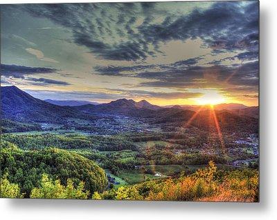 Wears Valley Tennessee Sunset Metal Print by Reid Callaway