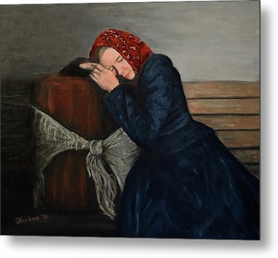 Weary Traveler Metal Print by Sandra Nardone