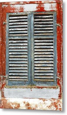 Weather-beaten Window Metal Print by Gaspar Avila