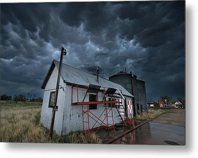 Weather In A Western Small Town Metal Print