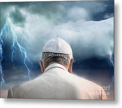 Weather The Storm Metal Print by Amy Cicconi