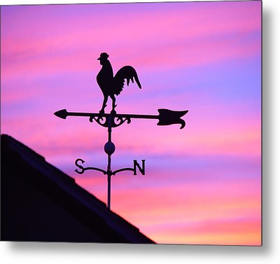 Metal Print featuring the digital art Weather Vane, Wendel's Cock by Jana Russon