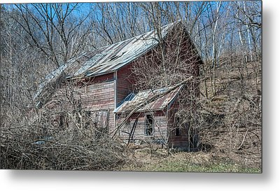 Weathered And Broken Metal Print