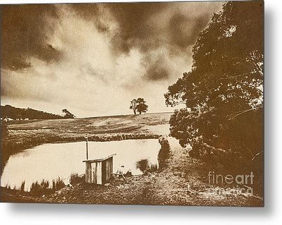 Weathered And Moody Old Farmland Metal Print by Jorgo Photography - Wall Art Gallery