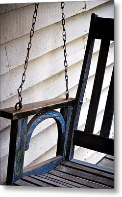Metal Print featuring the photograph Weathered Porch Swing by Debbie Karnes