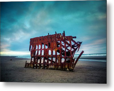 Weathered Rusting Shipwreck Metal Print