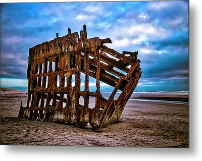 Weathered Shipwreck Metal Print