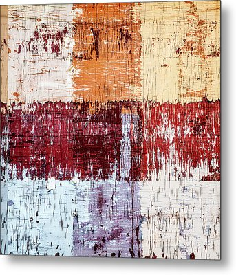 Weathered Wood Colorful Crossing 3 Of 3 Metal Print by Carol Leigh