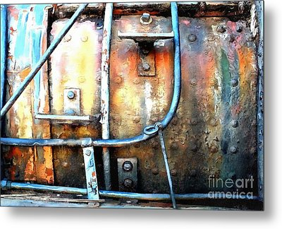 Metal Print featuring the photograph Weathering Steel - Rail Rust by Janine Riley