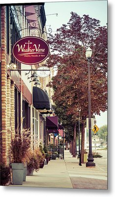 Metal Print featuring the photograph Weathervane Downtown Menasha by Joel Witmeyer