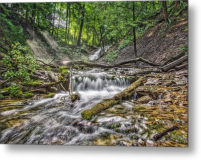 Weaver's Creek Falls Metal Print by Irwin Seidman
