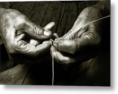 Weavers Hands Metal Print by John Hix