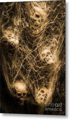 Web Of Entrapment Metal Print