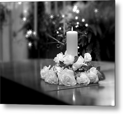 Wedding Candle Metal Print by Tom Mc Nemar