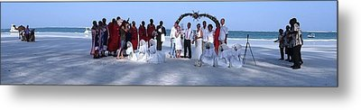Wedding Complete Panoramic Kenya Beach Metal Print by Exploramum Exploramum