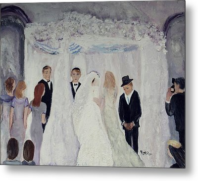 Wedding Day Metal Print by Aleezah Selinger