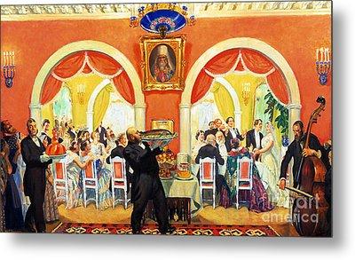 Wedding Feast, 1917 Metal Print by Boris Mikhailovich Kustodiev