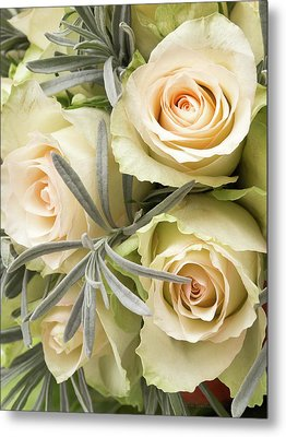Wedding Flowers Metal Print by Wim Lanclus