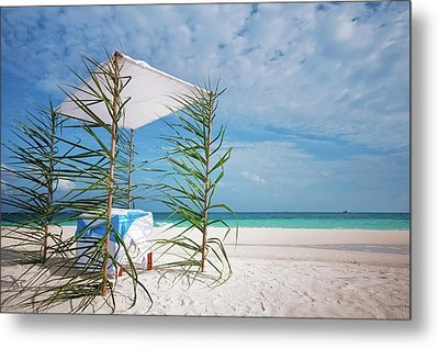 Metal Print featuring the photograph Wedding Tent On The Beach by Jenny Rainbow