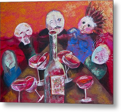 Wee Fun Booze Metal Print by Tracey Levine