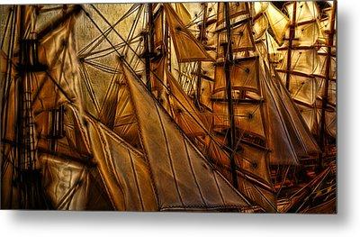 Wee Sails Metal Print by Cameron Wood
