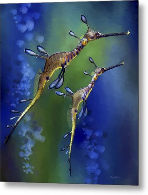 Weedy Sea Dragon Metal Print by Thanh Thuy Nguyen