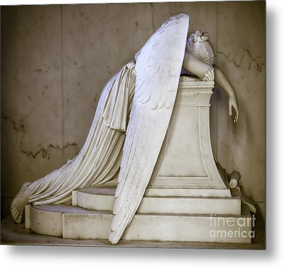 Weeping Angel - Antiqued Metal Print