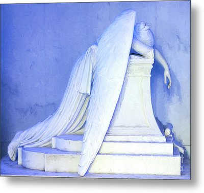 Weeping Angel- Digital Art Metal Print