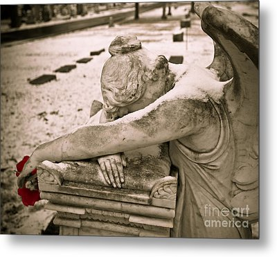 Weeping Angel In Winter Metal Print
