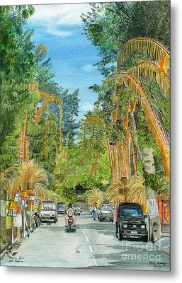 Metal Print featuring the painting Weeping Janur Bali Indonesia by Melly Terpening
